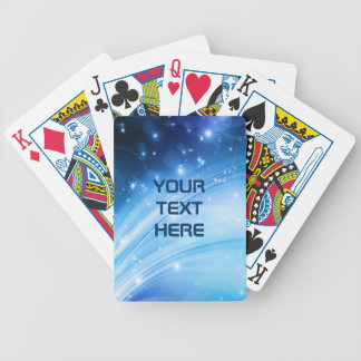 Northern Light Stars blue + your text & ideas Bicycle Playing Cards