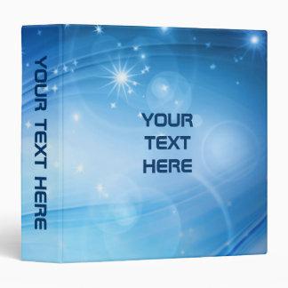Northern Light Stars blue + your text & ideas Binder