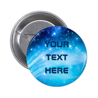 Northern Light Stars blue + your text & ideas Button