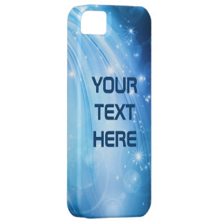 Northern Light Stars blue + your text & ideas iPhone 5 Case