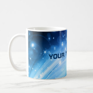 Northern Light Stars blue + your text & ideas Coffee Mug
