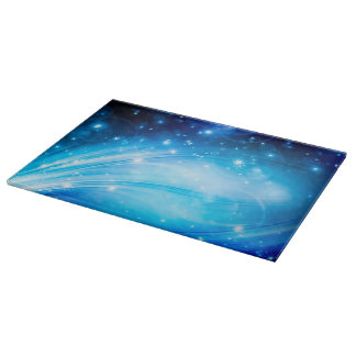 Northern Light Stars blue + your text & ideas Cutting Board