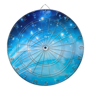 Northern Light Stars blue + your text & ideas Dart Boards