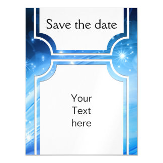 Northern Light Stars blue + your text & ideas Magnetic Card