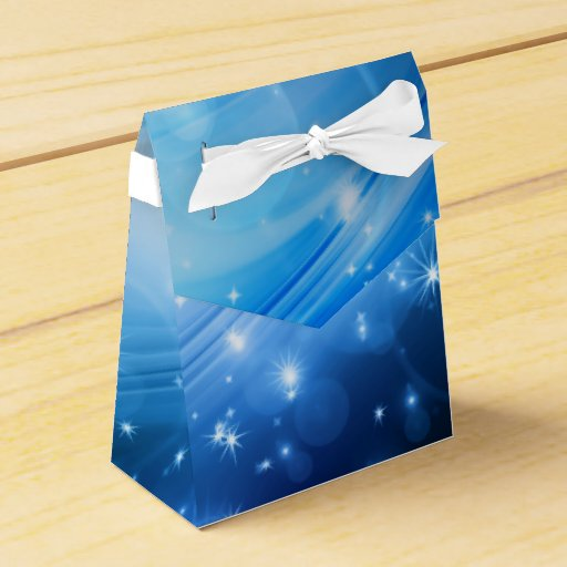 Blue Lightning Favor Boxes : Northern light stars blue your text ideas party favor