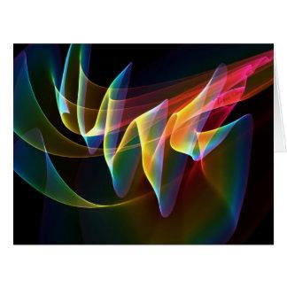 Northern Lights, Abstract Rainbow Aurora Large Greeting Card