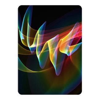 "Northern Lights, Abstract Rainbow Aurora 5"" X 7"" Invitation Card"