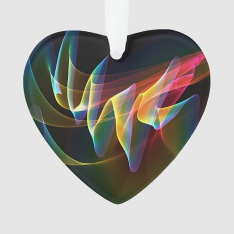 Northern Lights, Abstract Rainbow Aurora Ornament
