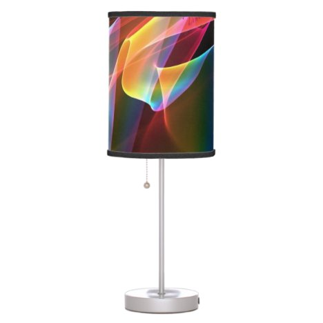 Northern Lights, Abstract Rainbow Aurora Table Lamp