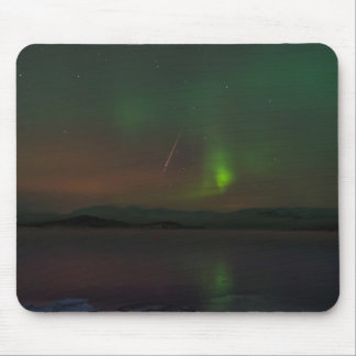 Northern Lights and Geminid Meteor Mousepad