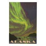 Northern Lights and Orcas - Anchorage, Alaska Wood Print
