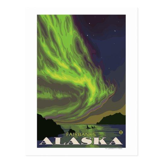 Northern Lights and Orcas - Fairbanks, Alaska Postcard