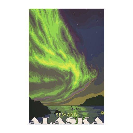 Northern Lights and Orcas - Seward, Alaska Canvas Print