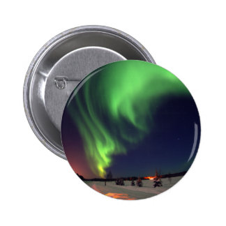 Northern Lights at Bear Lake 2 Inch Round Button