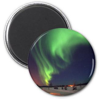 Northern Lights at Bear Lake 2 Inch Round Magnet