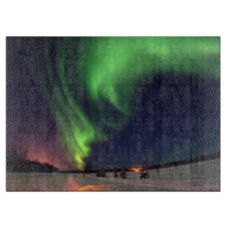 Northern Lights at Bear Lake Cutting Board