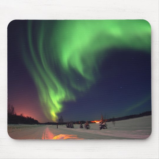 Northern Lights at Bear Lake Mouse Pad