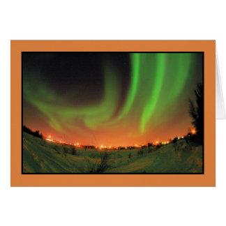 Northern Lights Aurora Borealis Card