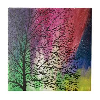 Northern Lights, Aurora Borealis Ceramic Tile