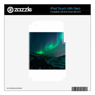 Northern Lights Aurora Borealis Custom Personalize iPod Touch 4G Decals