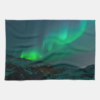 Northern Lights Aurora Borealis Custom Personalize Kitchen Towels