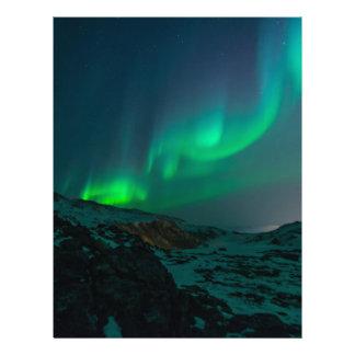 Northern Lights Aurora Borealis Custom Personalize Letterhead