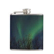 Northern Lights - Aurora Borealis Iceland Hip Flask