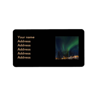 Northern Lights - Aurora Borealis Iceland Label