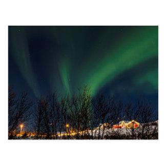 Northern Lights - Aurora Borealis Iceland Postcard