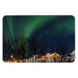 Northern Lights - Aurora Borealis Iceland Rectangular Photo Magnet