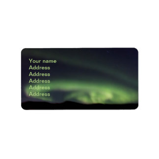 Northern Lights - Aurora Borealis in Iceland Label