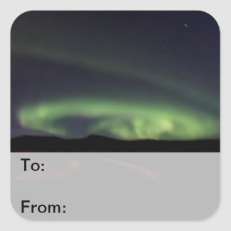 Northern Lights - Aurora Borealis in Iceland Square Sticker