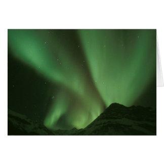 Northern lights, Aurora borealis on foothills of Card