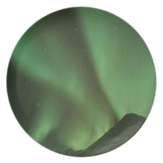Northern lights, Aurora borealis on foothills of Dinner Plate