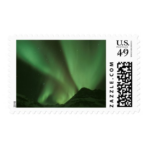Northern lights, Aurora borealis on foothills of Stamps