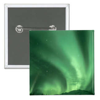 Northern lights, Aurora borealis, over foothills Buttons