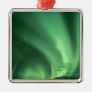 Northern lights, Aurora borealis, over foothills Metal Ornament
