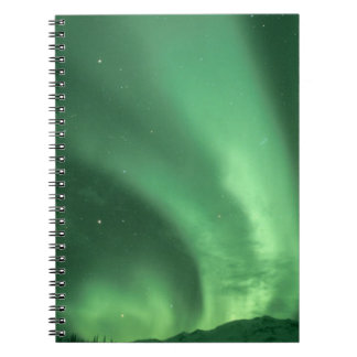 Northern lights, Aurora borealis, over foothills Notebook