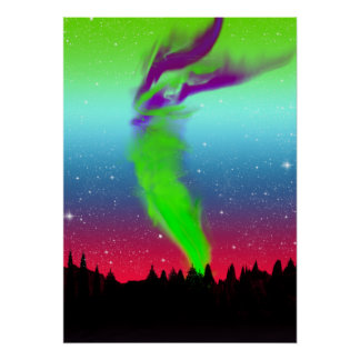 Northern Lights - Aurora Borealis Poster