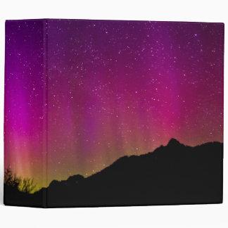 Northern Lights Aurora Borealis Starry Night Sky 3 Ring Binder