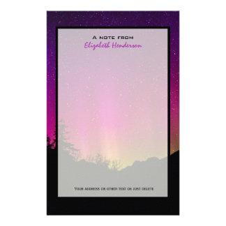 Northern Lights Aurora Borealis Starry Night Sky Stationery