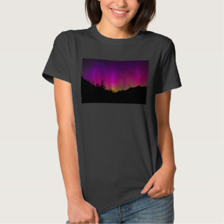 Northern Lights Aurora Borealis Starry Night Sky T Shirt