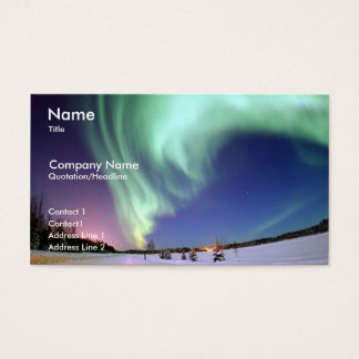 Northern Lights Business/ Profile Card