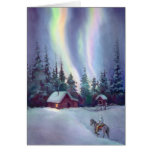 NORTHERN LIGHTS by SHARON SHARPE Stationery Note Card