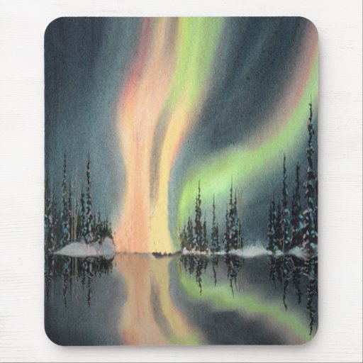 NORTHERN LIGHTS by SHARON SHARPE Mouse Pad