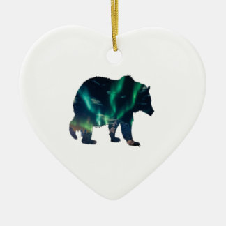 Northern Lights Ceramic Ornament