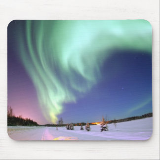Northern Lights Chic Ribbon Of Lights Jade Glow Mouse Pad