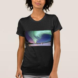 Northern Lights Chic Ribbon Of Lights Jade Glow T-Shirt