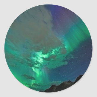 northern lights classic round sticker