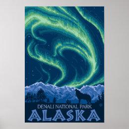 Northern Lights - Denali National Park, Alaska Poster